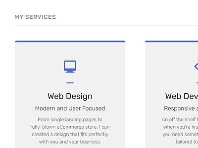 Services blue accent line icon web design website web design