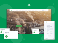 Chemical company website flat design fullscreen minimal plant chemical industry website web interface ux ui
