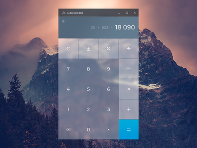 Calculator daily ui ux ui mountains minimal interface fluent desktop calculator dailyui 004