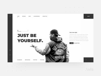 Main page template | Avis UI Pack