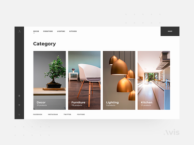Categories page template | Avis UI Pack