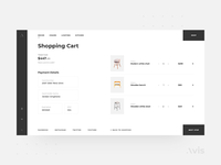 Shopping cart page template | Avis UI Pack shopping webdesign fullscreen lights minimal clean download cart shopping cart shopping bag ui kits light template buy e-commerce website web interface ux ui
