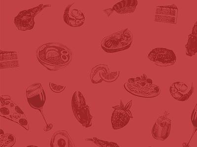 Delish negative space food food illustration logo branding procreate digital illustration design