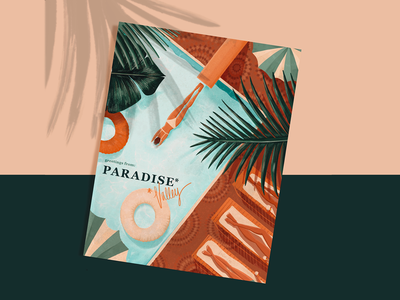 Staycation travel hotel digital type illustrator branding typography procreate color design illustration