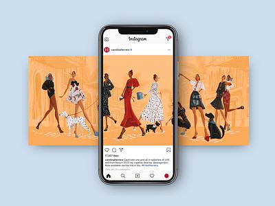 Dream Job (mockup) mockup hand drawn type illustrator digital campaign social fashion branding procreate color design illustration