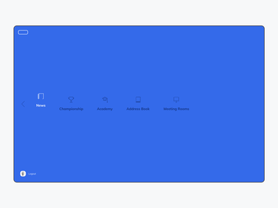Intranet Concept - Menu icon design icons iconset iconography component design menu blue ui ux website web intranet digital