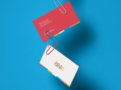 Achinkids Business Cards colours children logo business cards stationery branding