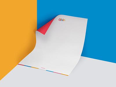 Achinkids Letter Paper clothing brand children colours stationery letter paper letterpress branding