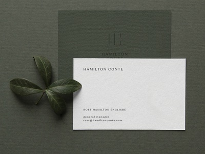 Hamilton Conte Business Cards