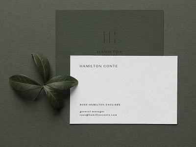 Hamilton Conte Business Cards minimal business cards branding