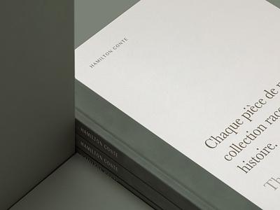 Hamilton Conte Hardcover hand lettering cover print design hardcover editorial design catalogue design product