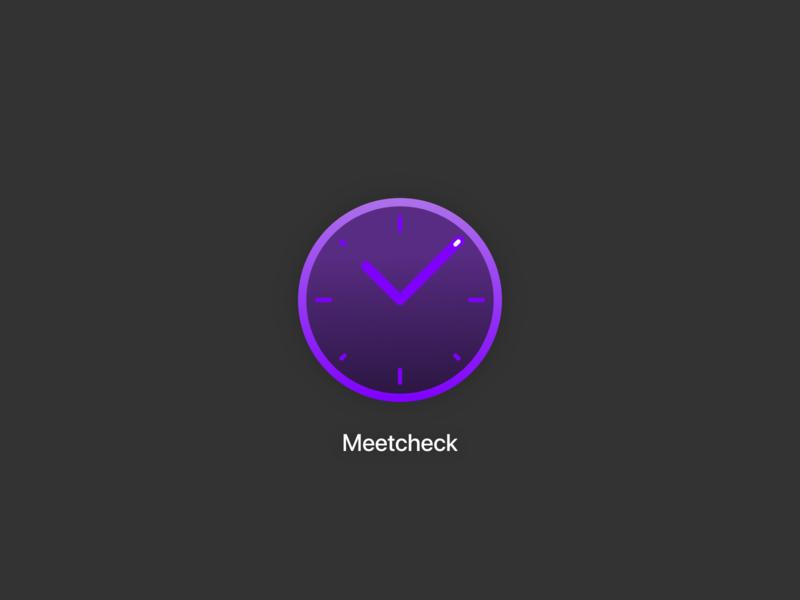 Daily UI #005 icon check clock gradient minimal dailyui 005 app icon