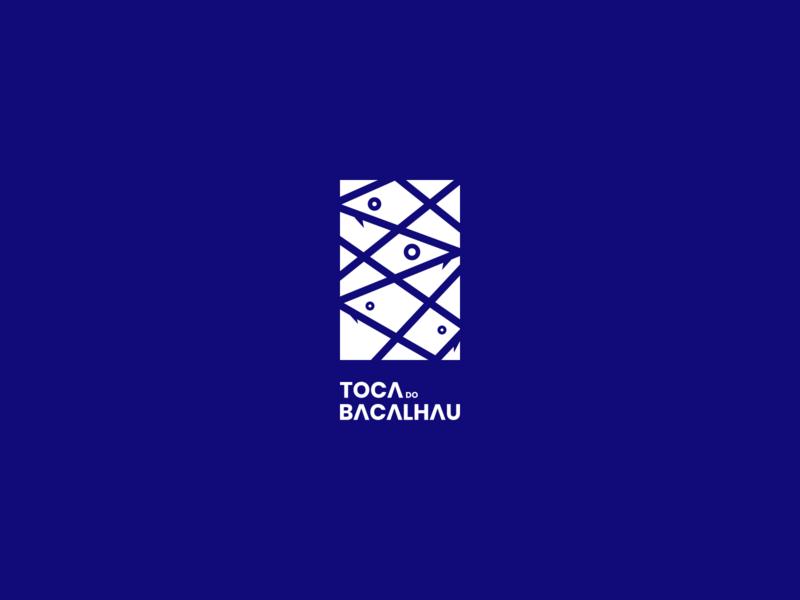 Toca do Bacalhau Identity - Logo ocean sea symbol blue fish restaurant minimal logotype logo identity food branding