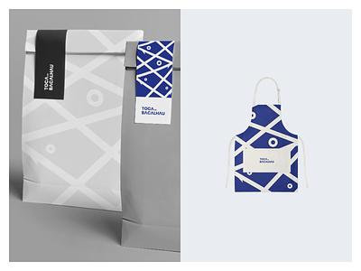 Toca do Bacalhau Identity typography packaging design symbol sea restaurant ocean minimal logotype logo identity food fish branding blue