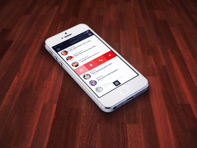 Chatter (Chats View) concept camera app ios ios 7 photo cam chat swipe list phone
