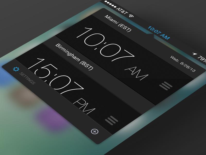 Clocks concept clock tiime app ios ios 7 cydia tweak world