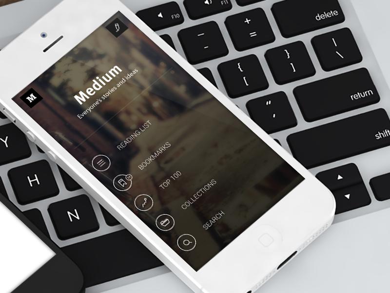 Medium for iOS (Main Screen)