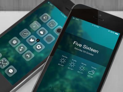 Korleon ios 7 theme winterboard cydia lockscreen icons statusbar user interface ui