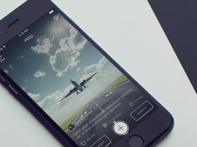Picatu Feed ios 8 iphone 6 social application ui ux design feed share photos