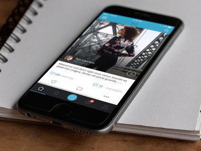 Feed ux share iphone 6s design ios feed photos application ui social