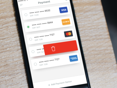 AWS Billing – Payment visual interface experience digital payment cards management screen simple clean interface andregivenchy design ui ux application