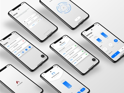 ApexDesk App Redesign product design interface experience case study standing desk iphone x andregivenchy givenchy ui ux mobile application