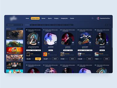 Gaming Web App