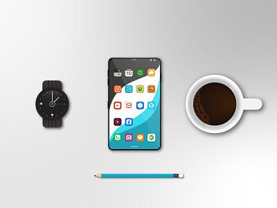 Fon - Smartphone Concept galaxy watch smartphone concept