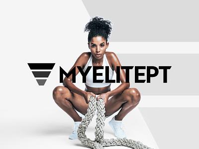 MyElitePT - Logo Design vector simple minimal logo minimalist logo typography design clean fitness app app minimalist minimal sport logo sport gym logo fitness logo gym fitness graphic design logo branding
