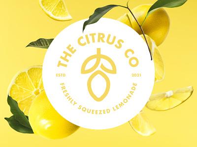 Weekly Warm-Up - The Citrus Co simple fruit green yellow friendly soft round circle badge stamp lemonade lemon logo lemon branding logo typography design clean minimalist minimal
