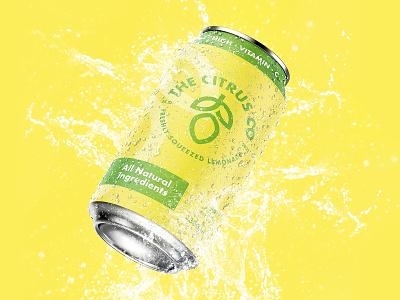 Weekly Warm-Up - The Citrus Co typography simple photoshop minimalist minimal logotype logo design logo icon graphic design lemonade lemon fruit design creative clean brand branding yellow 3d