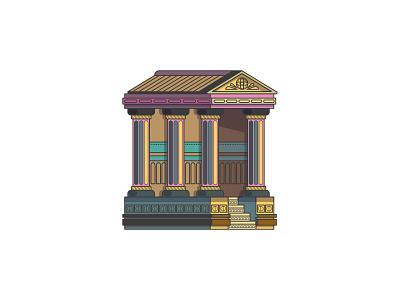 Temples line art greek ancient greece temple vector graphic design illustration