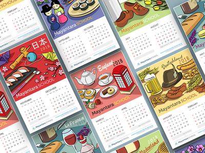 Calendar Project for Mayantara School