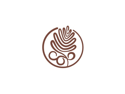 Kaffegarten Logo nature garden cafe coffee icon graphic design design branding vector logo