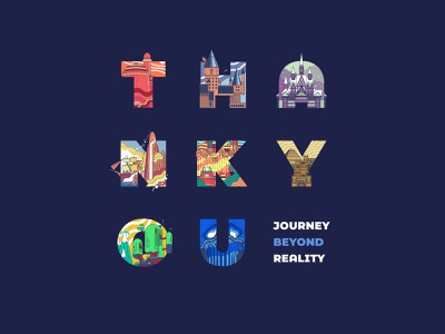 36 Days of Type - Journey Beyond Reality fictional place line art letter icon design illustration vector 36daysoftype