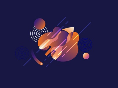 Rocket graphic design galaxy stars satelite comet shuttle planets planet space rocket illustration