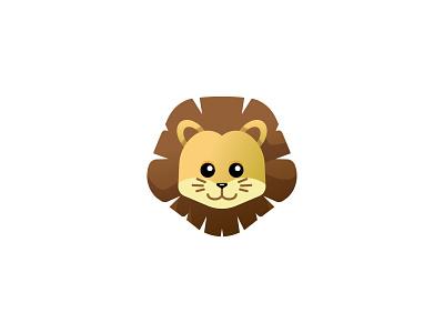 Little Lion baby animals cute cat lion branding icon app logo graphic design illustration