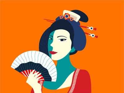 Chinese Lady chinese new year asian woman mandarin chinese style chinese outfit chinese culture lady chinese china vector graphic design illustration