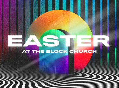 The Block Church Easter illustrator photoshop color easter