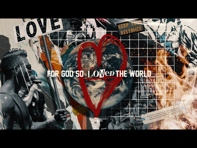 For God So Loved pandemic gay black lives matter poster church series art series branding composition photoshop