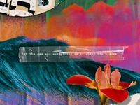 Shout his praise! psalm jesus halftone socialmedia scripture tape colors collage ocean waves