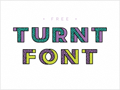 Free Turnt Font
