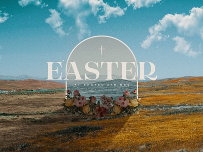 Easter at Chapel Springs easter cross illustrator jesus church photoshop handmade illustration