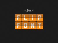 Free Flip Font