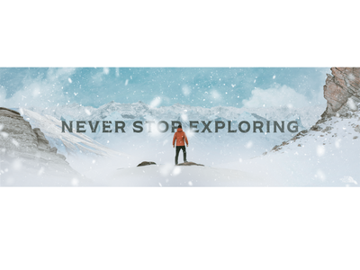 Never Stop Exploring product thenorthface photoshop winter