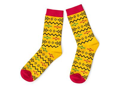 Africa Sock II lonati fashion clothing sock pattern africa pattern african animals african africa knitting jacquard socks
