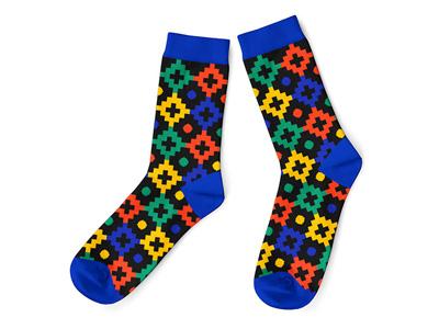 Africa Pattern II Sock sock designs best sock designer socks jacquard custom africa illustration colorfull knitting design apparel