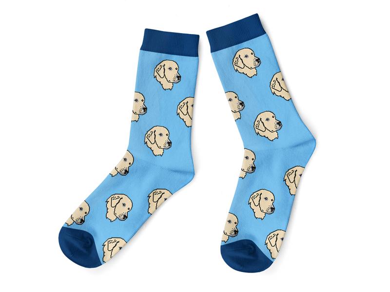Golden Retriever Sock 2020 illustrator illustration sock knitting design jacquard socks apparel