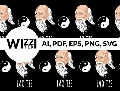 Lao Tze Pattern Graphic sock custom illustrator duality laotze illustration jacquard knitting socks design apparel
