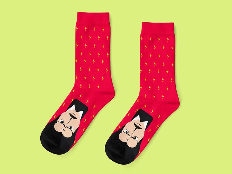 Nikola Tesla tesla nikolatesla illustration 2019 colorfull knitting jacquard illustrator apparel design socks